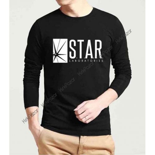 Flash S.T.A.R Lab. Uzun Kol Sweatshirt