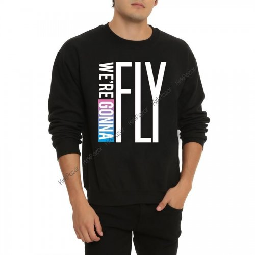 K-POP-We're Gonna FLY Uzun Kol Sweatshirt