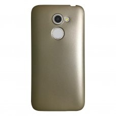 Alcatel A3 Premium Simple Silikon Arka Kapak Gold