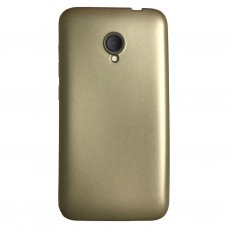 Alcatel U5 Premium Simple Silikon Arka Kapak Gold