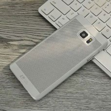 Samsung Galaxy Note FE (Fan Edition) Loopee Point Sert Arka Kapak Silver