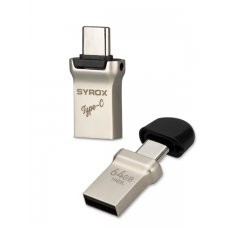 Syrox 64GB Type-C Usb + Usb Otg Flash Bellek UTC64
